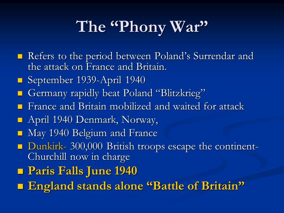 The Phony War Paris Falls June 1940