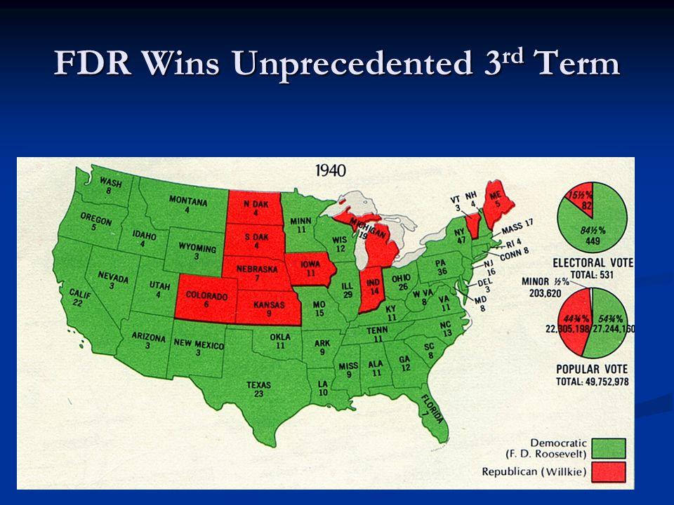 FDR Wins Unprecedented 3rd Term