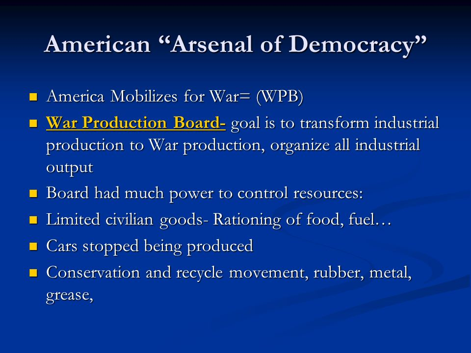 American Arsenal of Democracy