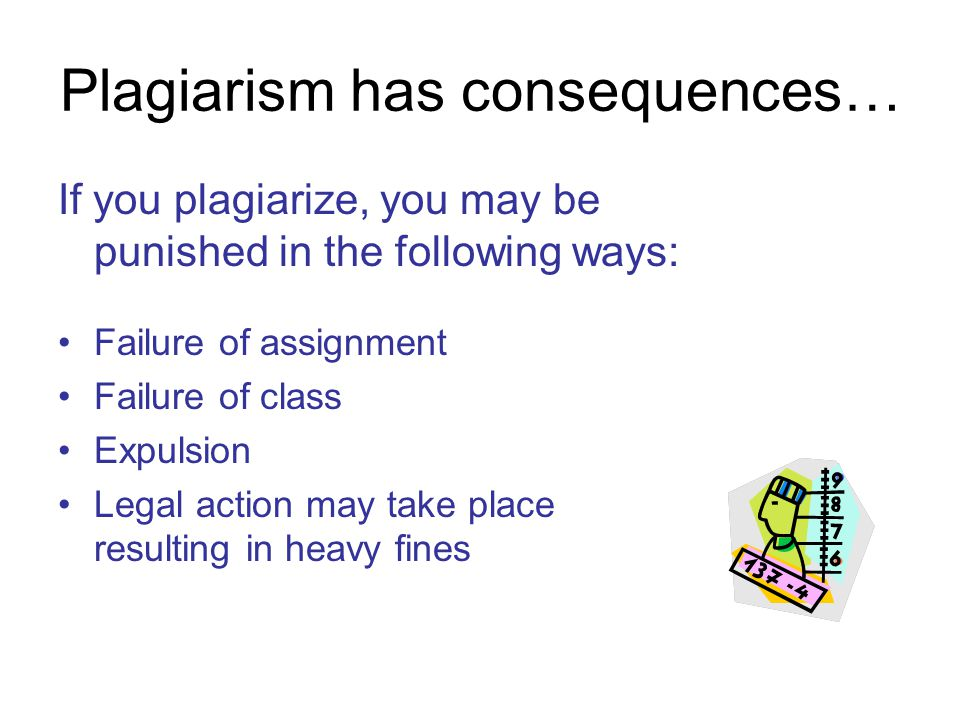 Plagiarism has consequences…