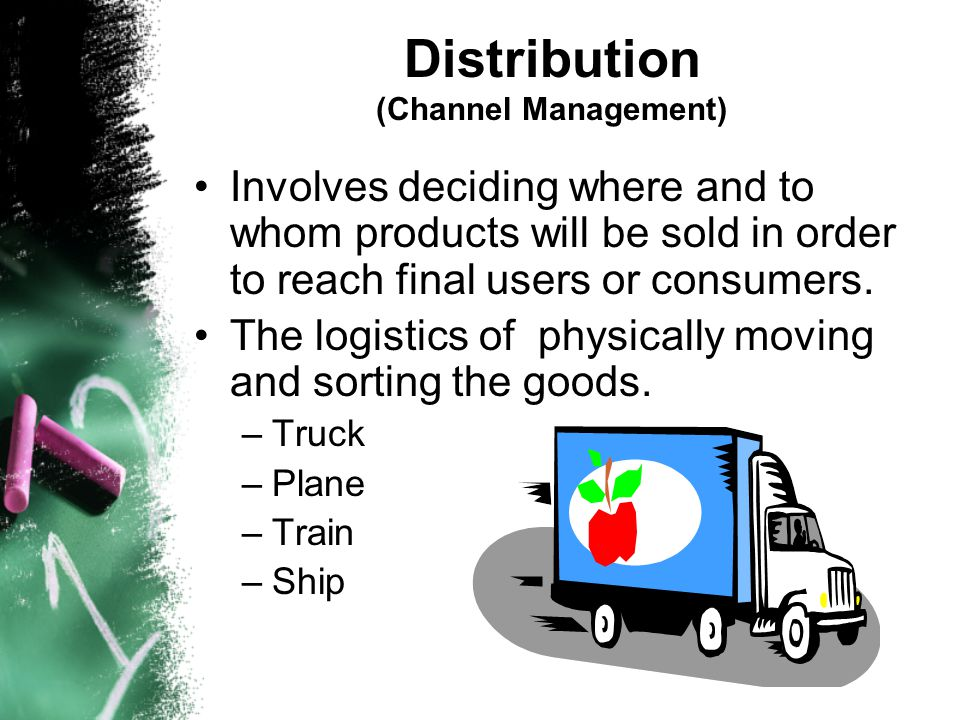 Distribution (Channel Management)