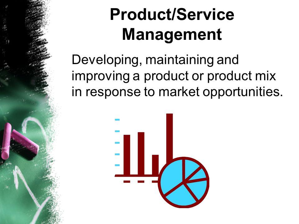 Product/Service Management