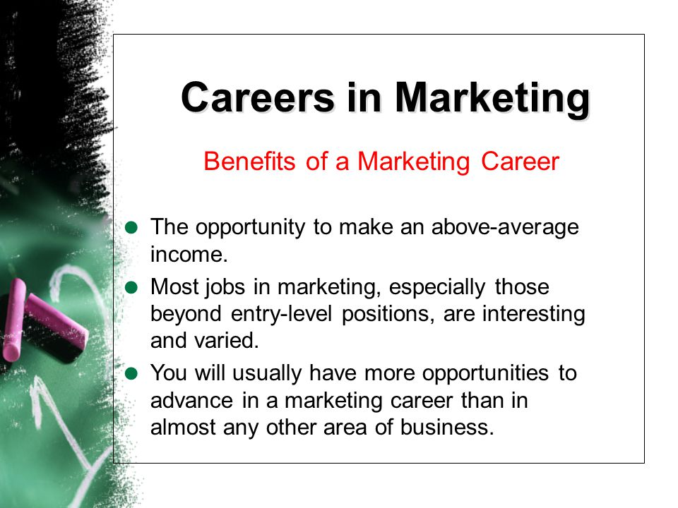 Benefits of a Marketing Career