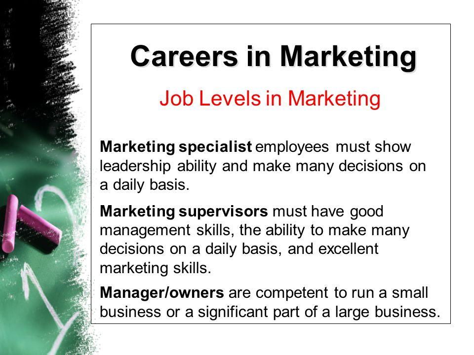 Job Levels in Marketing
