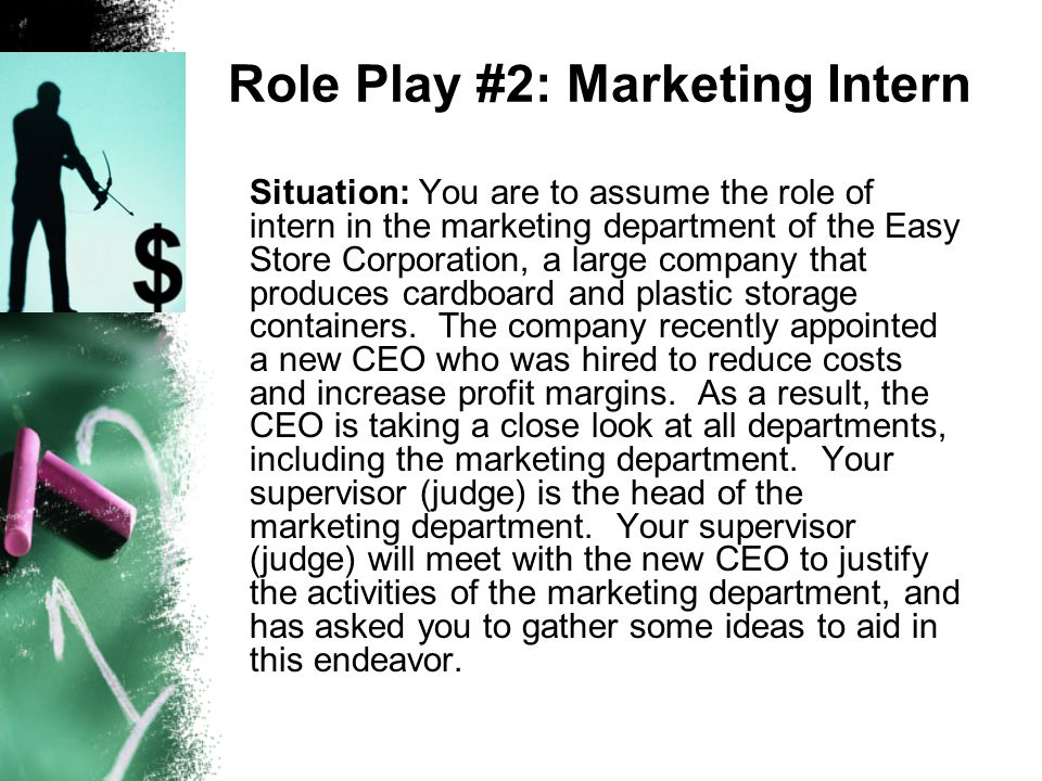 Role Play #2: Marketing Intern