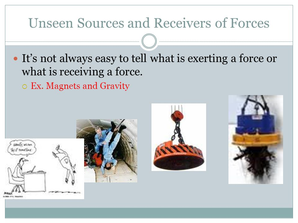 Unseen Sources and Receivers of Forces