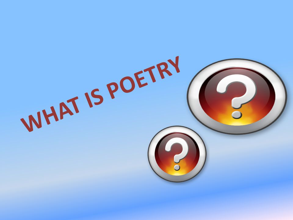 What Is Poetry Ppt Video Online Download
