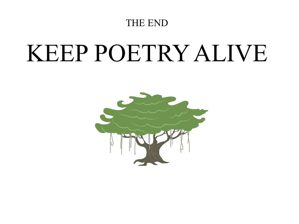THE END KEEP POETRY ALIVE