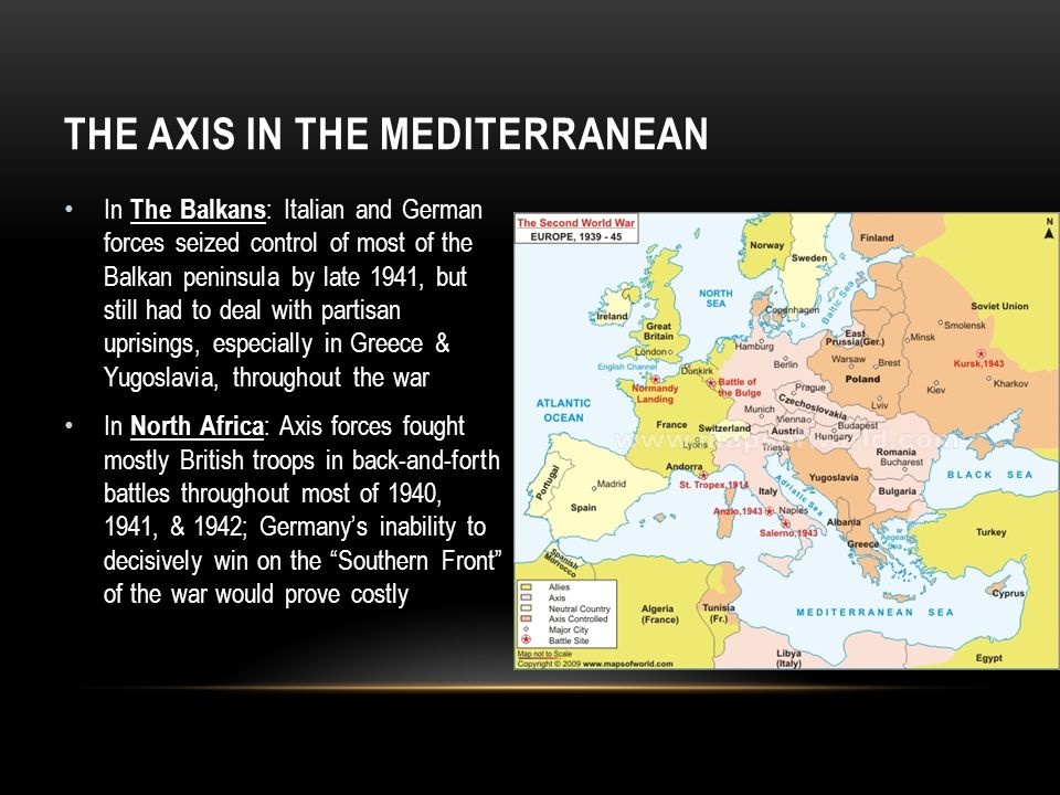 The Axis in the Mediterranean
