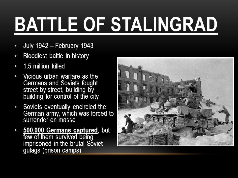 Battle of Stalingrad July 1942 – February 1943