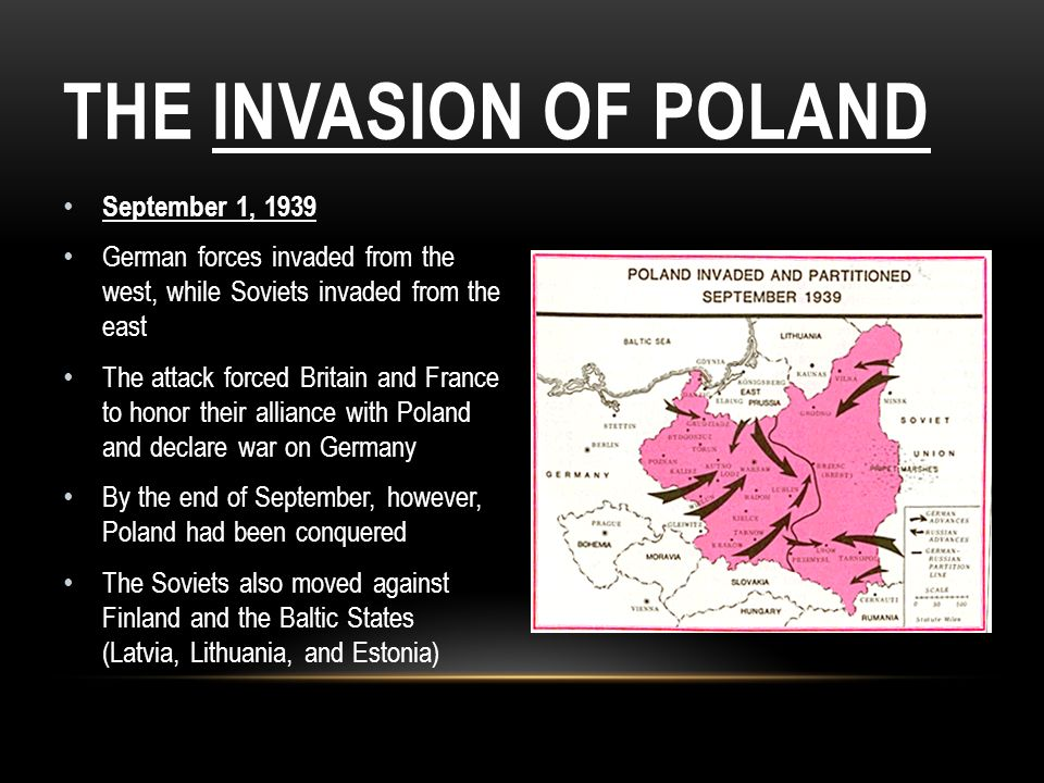 The Invasion of Poland September 1, 1939