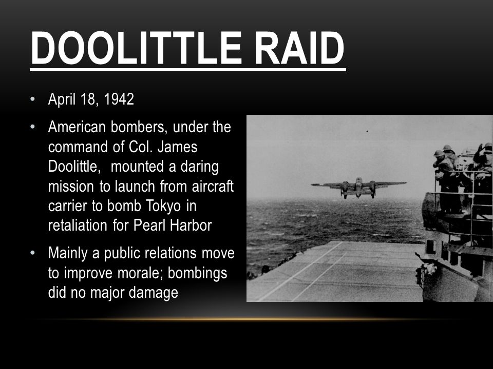 Doolittle Raid April 18, 1942.