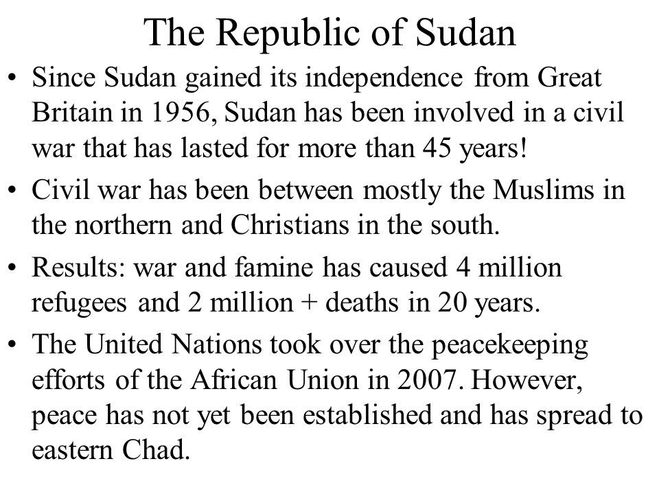 The Republic of Sudan
