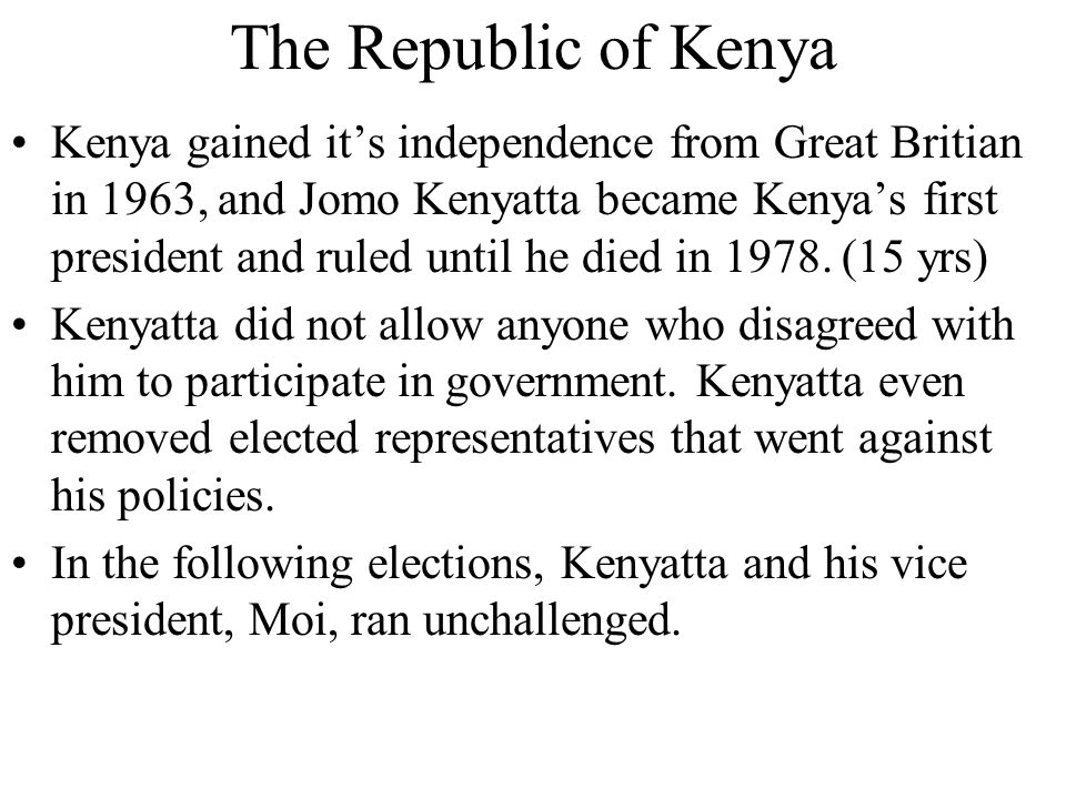 The Republic of Kenya