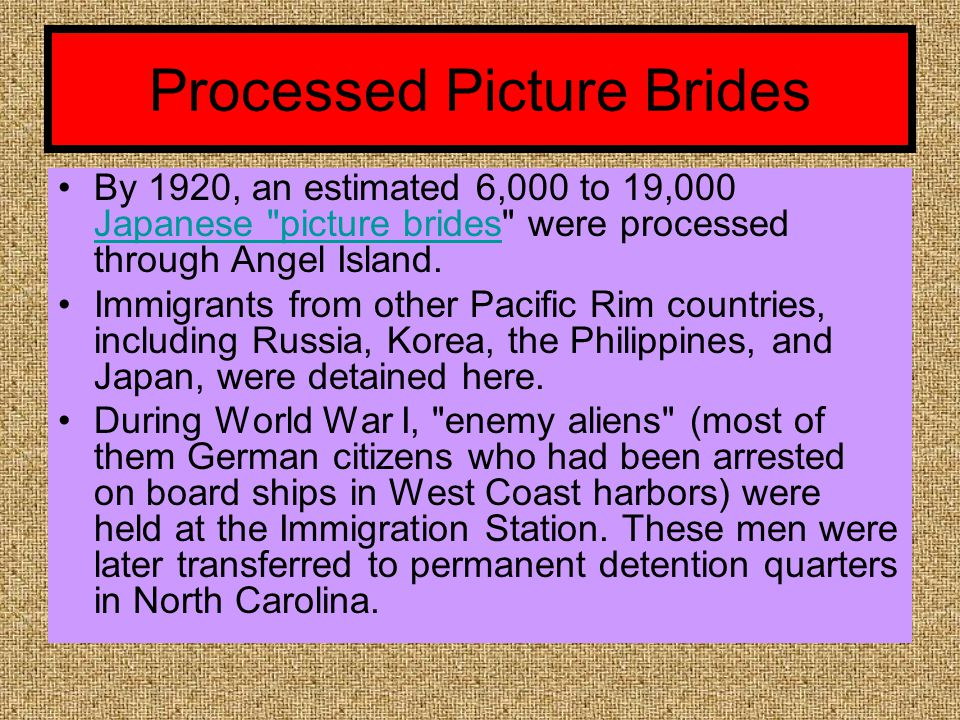 Processed Picture Brides