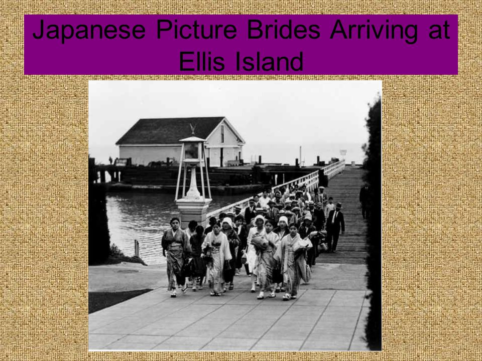 Japanese Picture Brides Arriving at Ellis Island