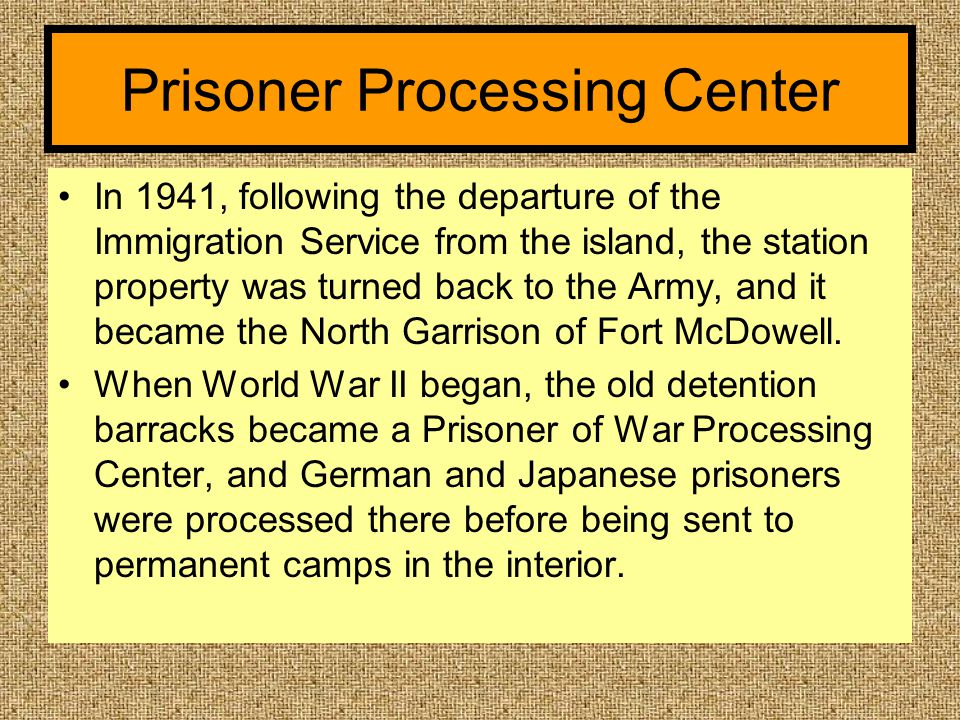Prisoner Processing Center