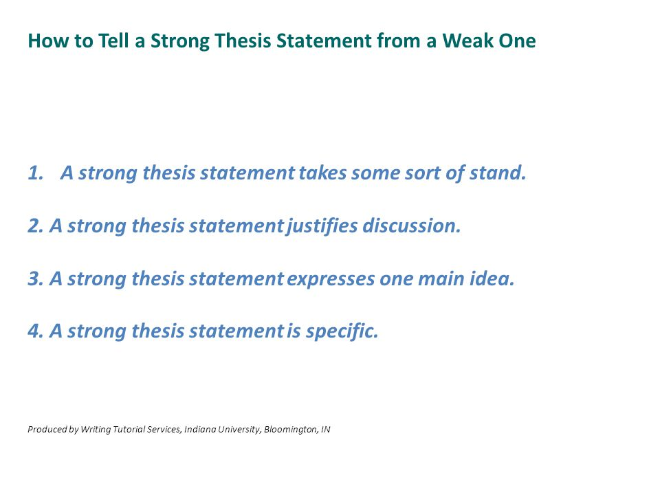 How to Tell a Strong Thesis Statement from a Weak One