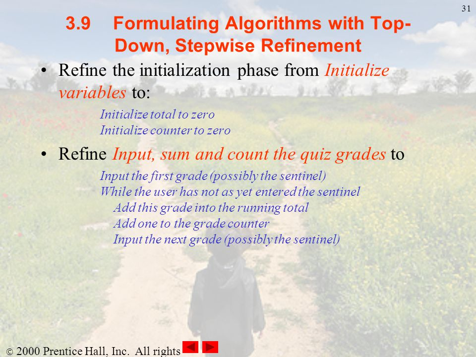 3.9 Formulating Algorithms with Top-Down, Stepwise Refinement