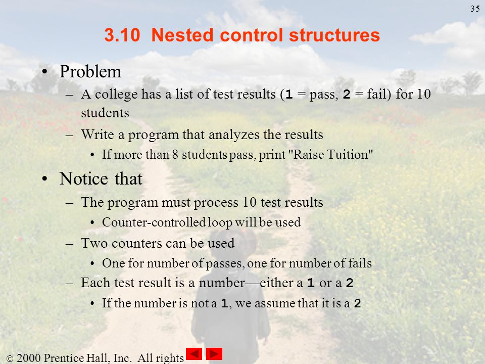 3.10 Nested control structures