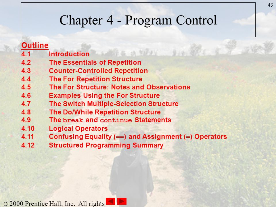 Chapter 4 - Program Control