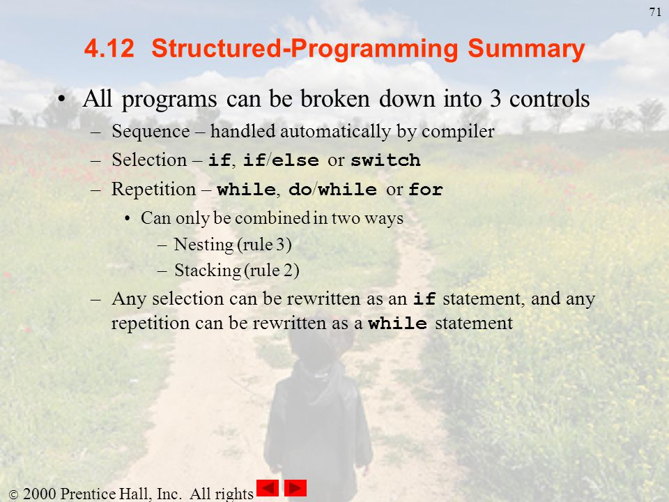 4.12 Structured-Programming Summary