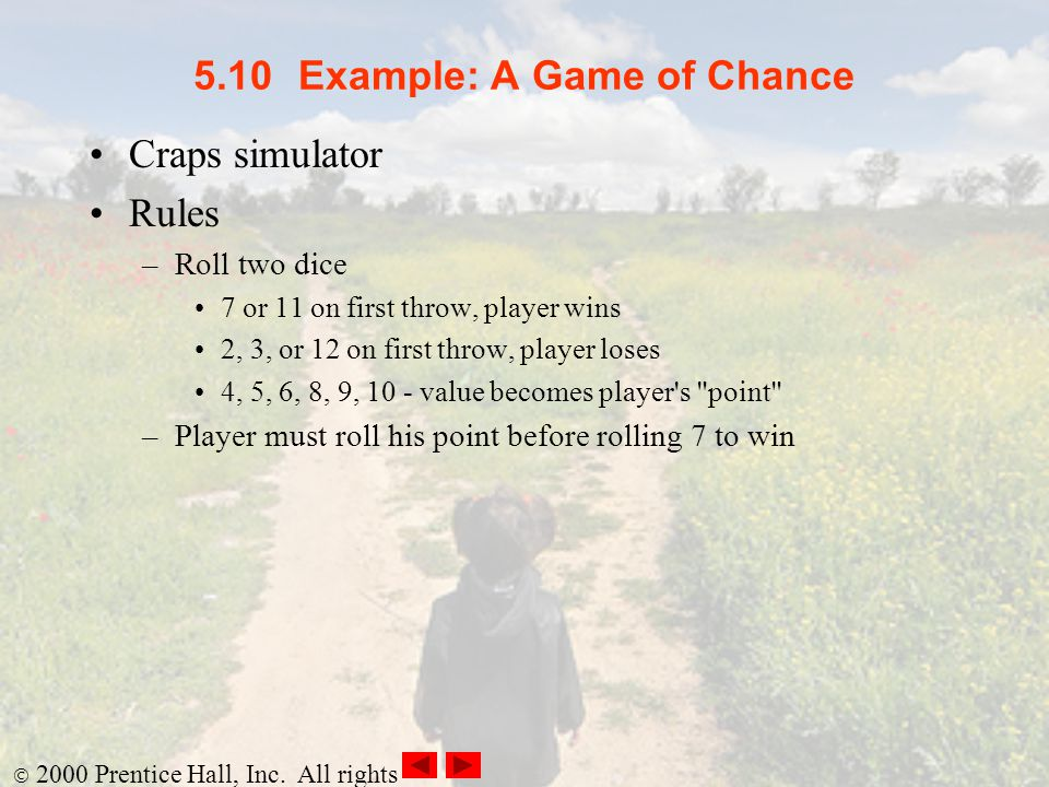 5.10 Example: A Game of Chance