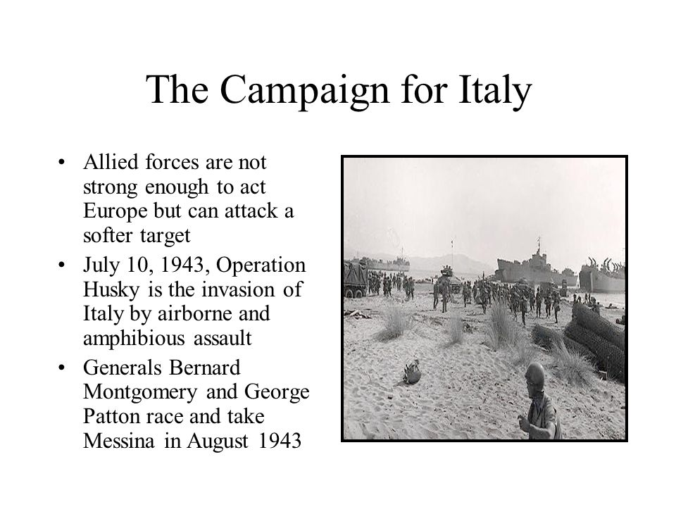 The Campaign for Italy