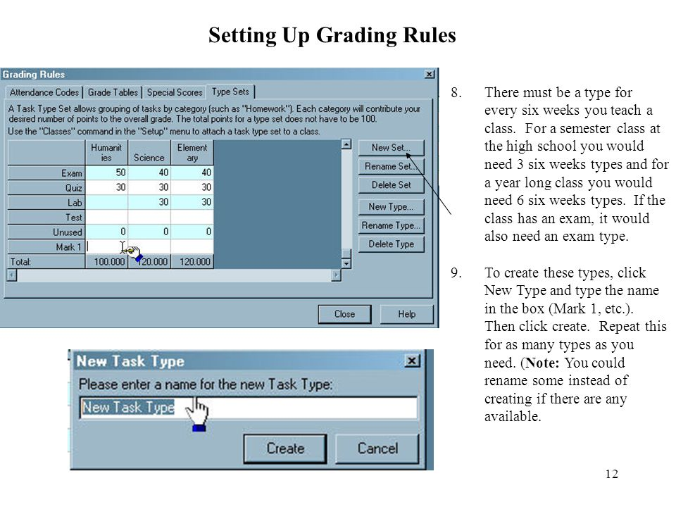Setting Up Grading Rules
