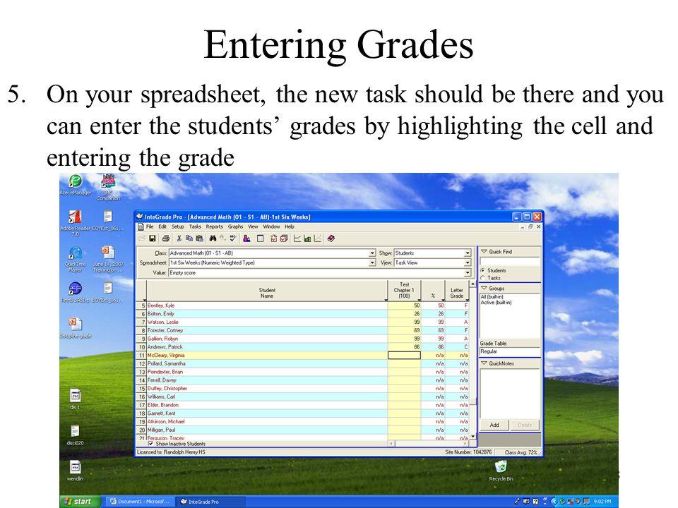 Entering Grades