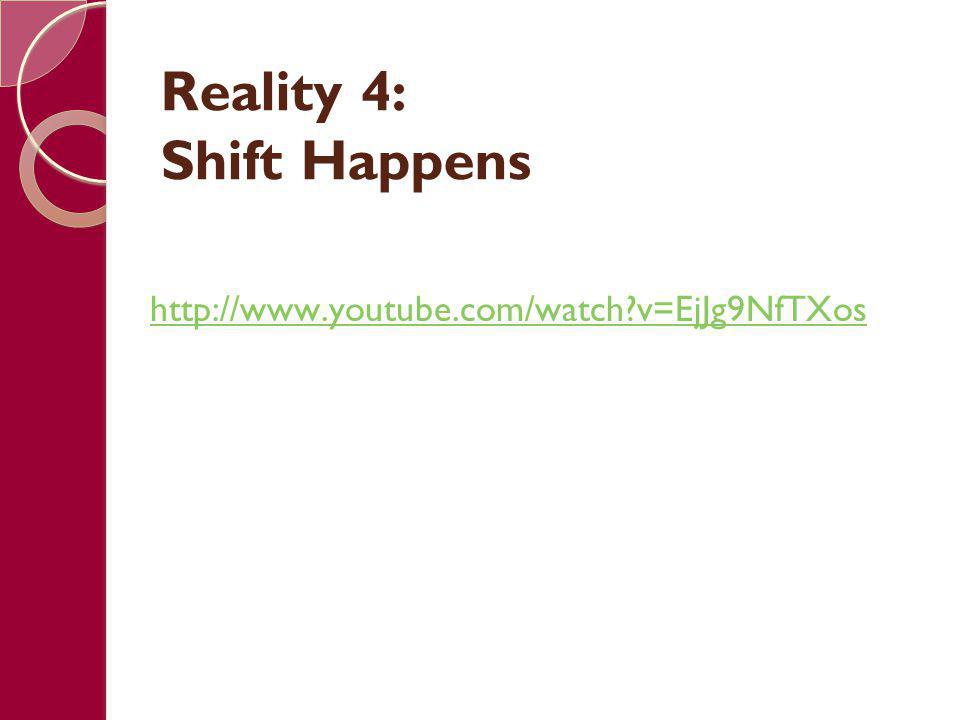 Reality 4: Shift Happens