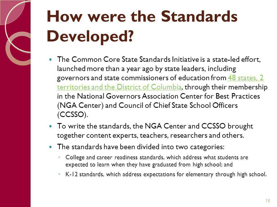 How were the Standards Developed
