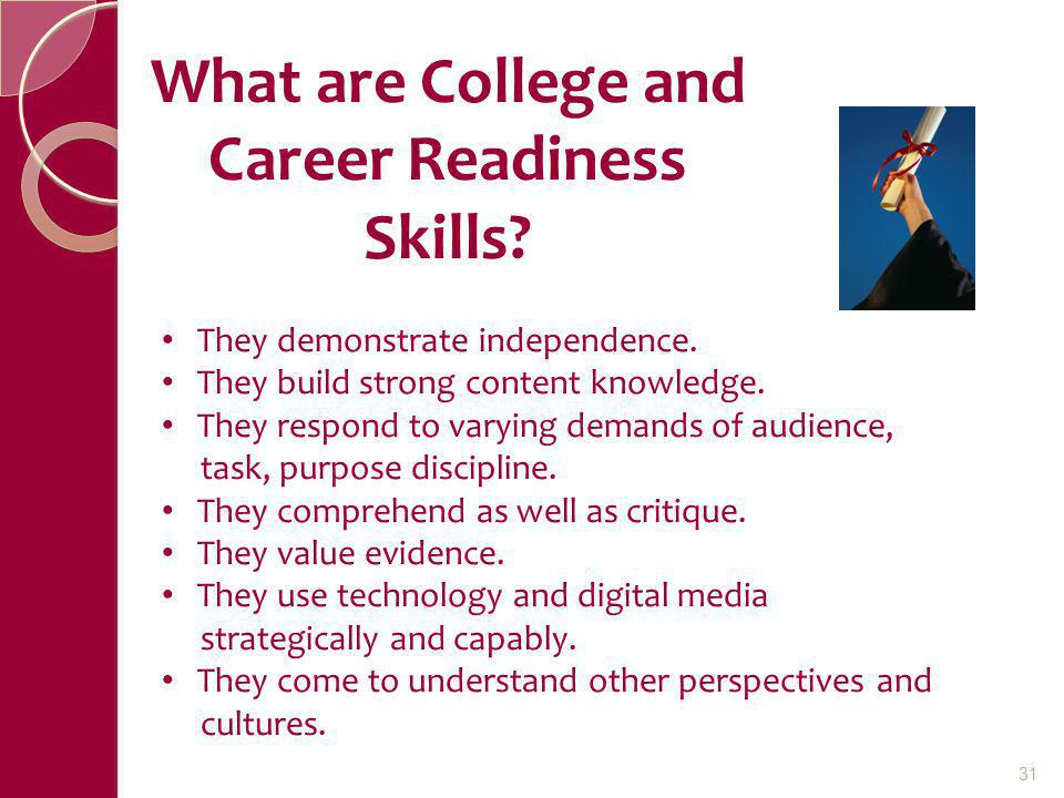 What are College and Career Readiness Skills
