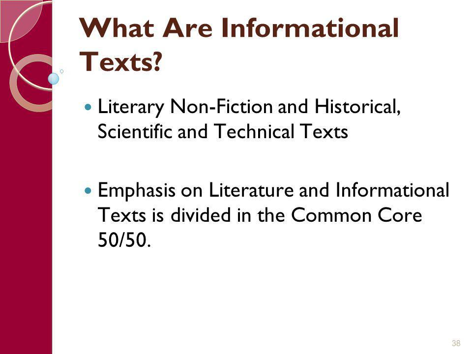 What Are Informational Texts