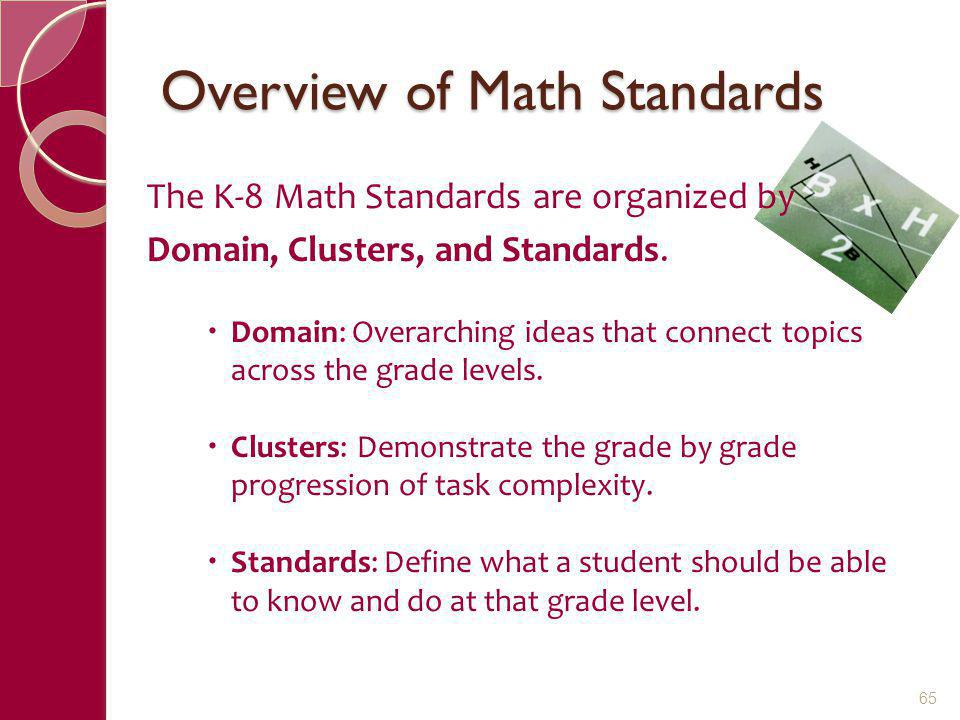 Overview of Math Standards