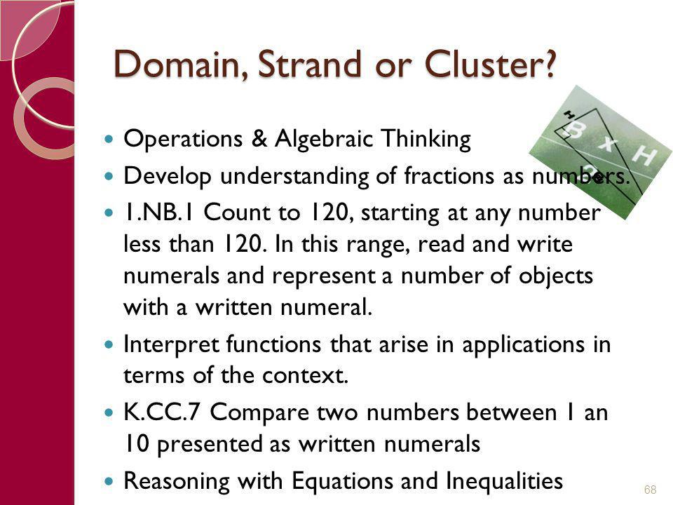 Domain, Strand or Cluster