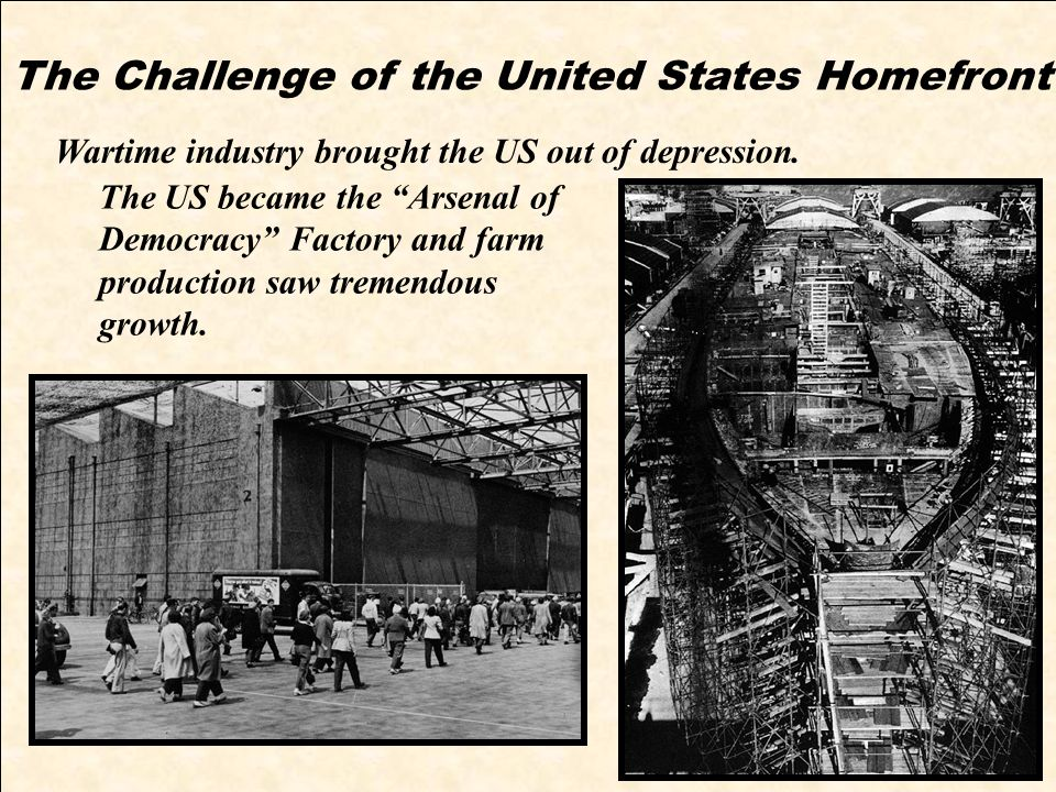 The Challenge of the United States Homefront