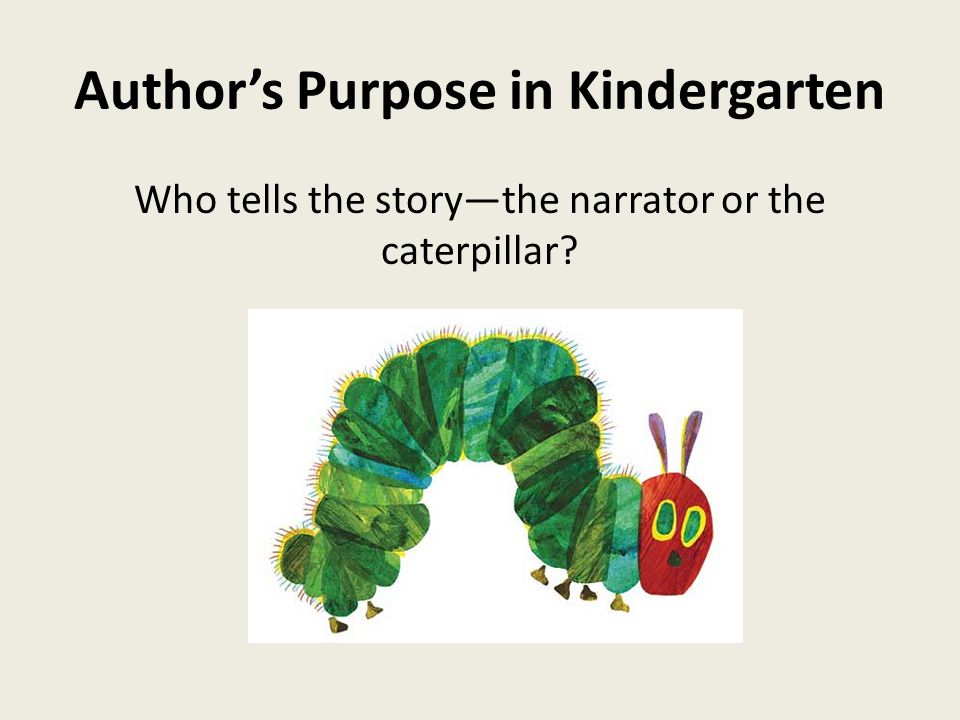 Author's Purpose in Kindergarten