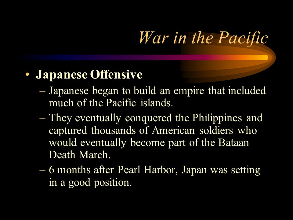 War in the Pacific Japanese Offensive