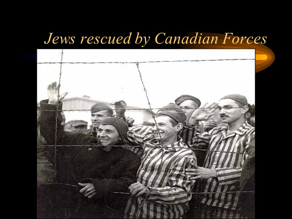 Jews rescued by Canadian Forces