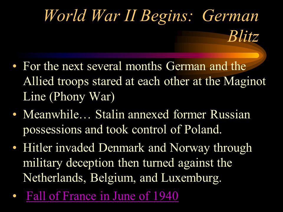 World War II Begins: German Blitz