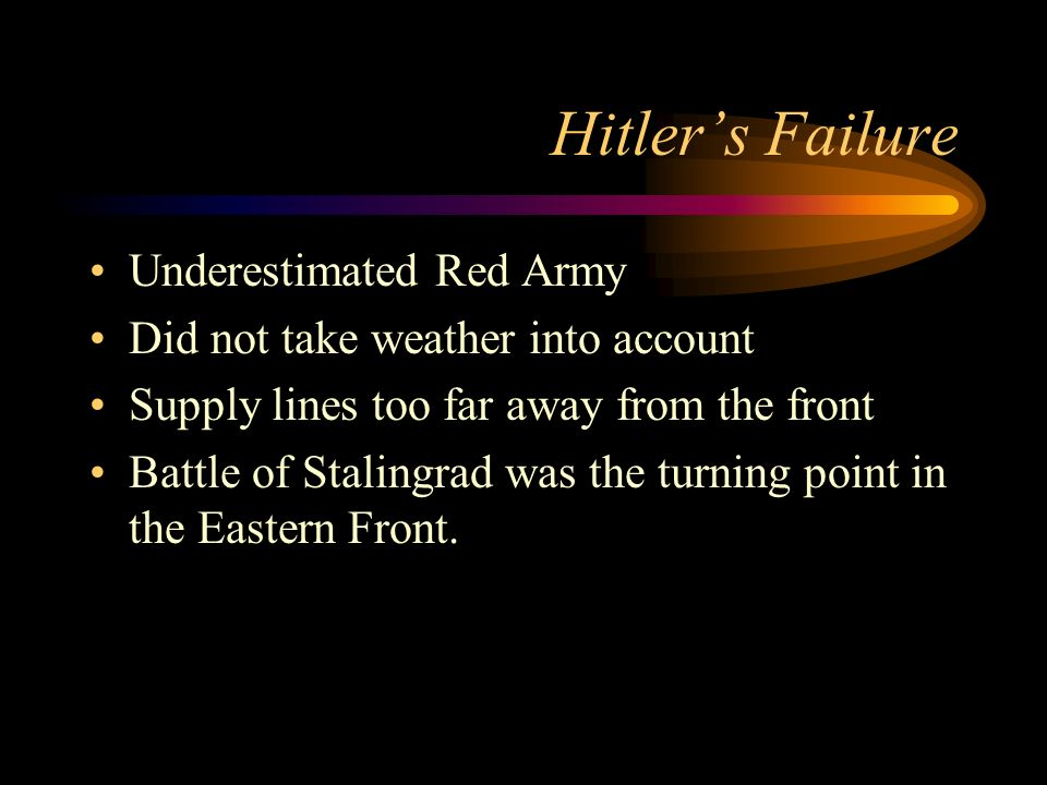 Hitler's Failure Underestimated Red Army