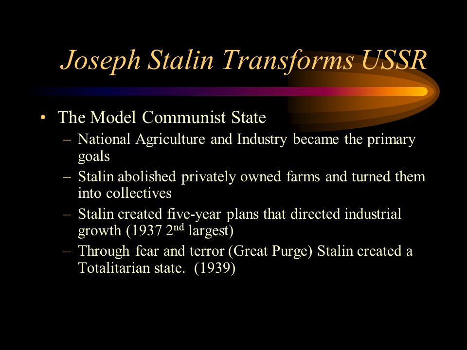 Joseph Stalin Transforms USSR