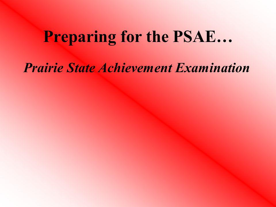Preparing for the PSAE…