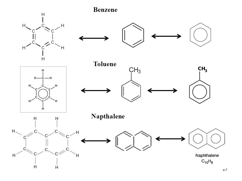 Benzene Toluene Napthalene