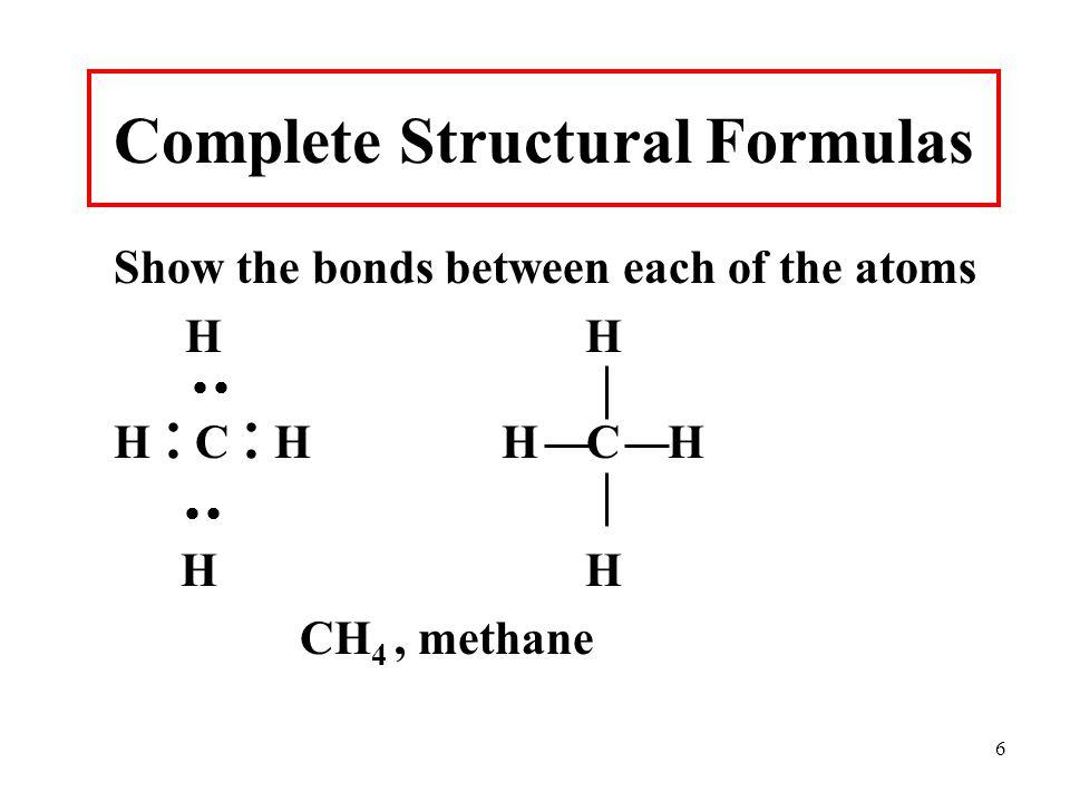 Complete Structural Formulas