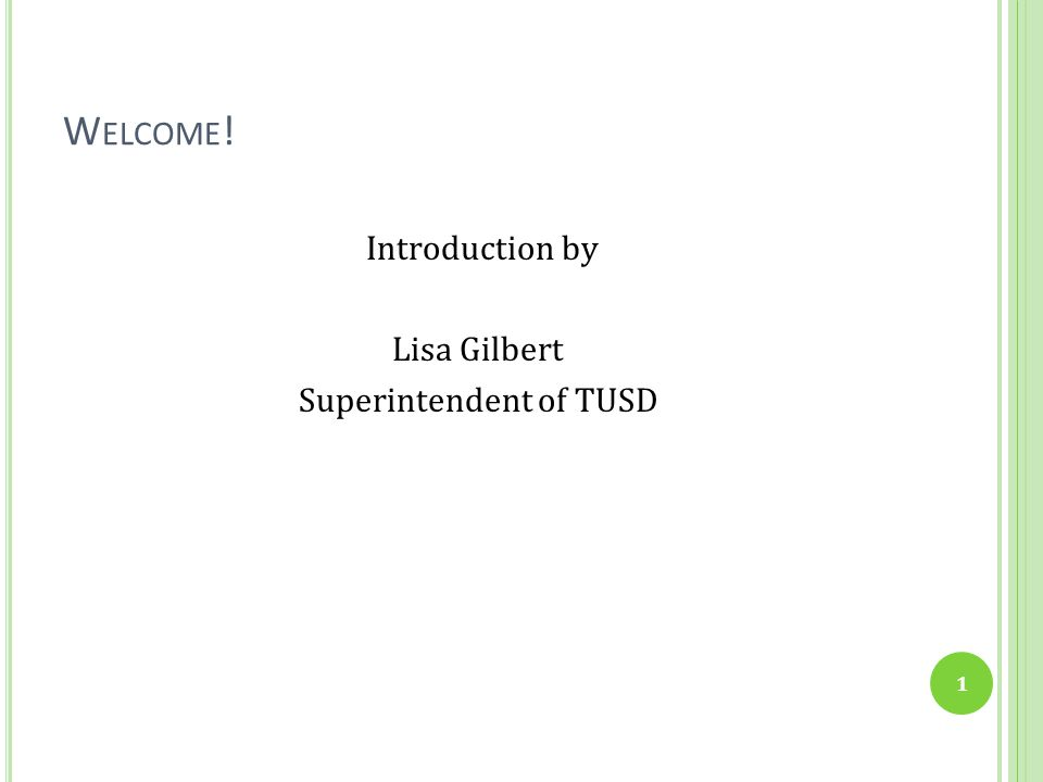 Superintendent of TUSD