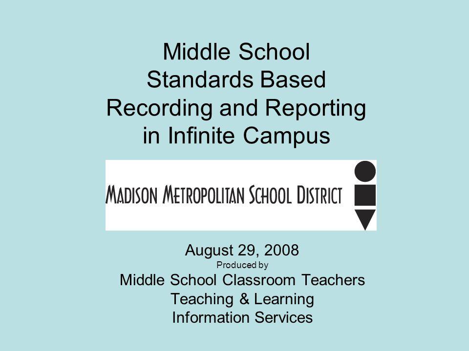 Middle School Classroom Teachers