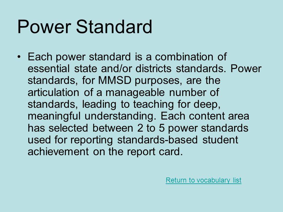 Power Standard