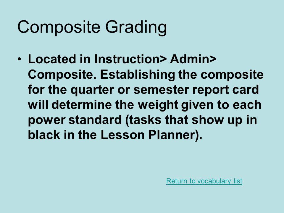 Composite Grading